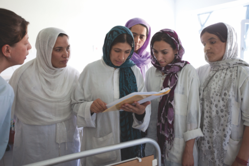 Local Afghan nurses, midwives, and gynaecologists at EMERGENCY's Maternity Centre in Anabah, Afghanistan