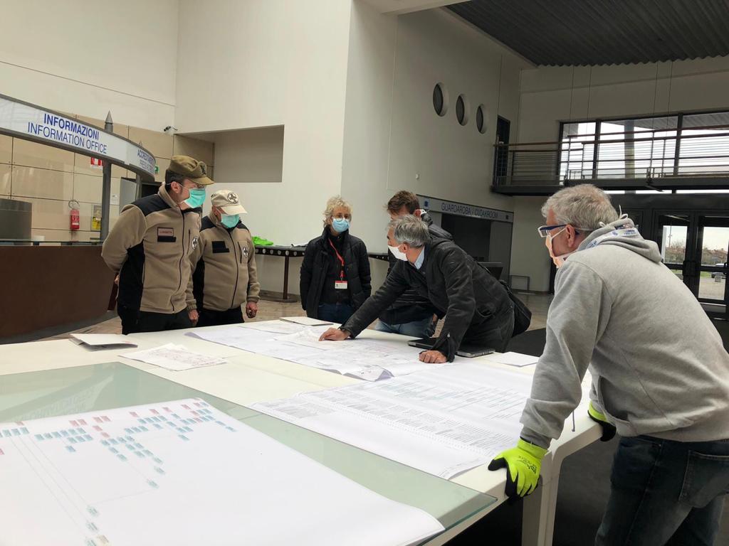 CORONAVIRUS: EMERGENCY Works On A New Hospital At Fiera Di Bergamo