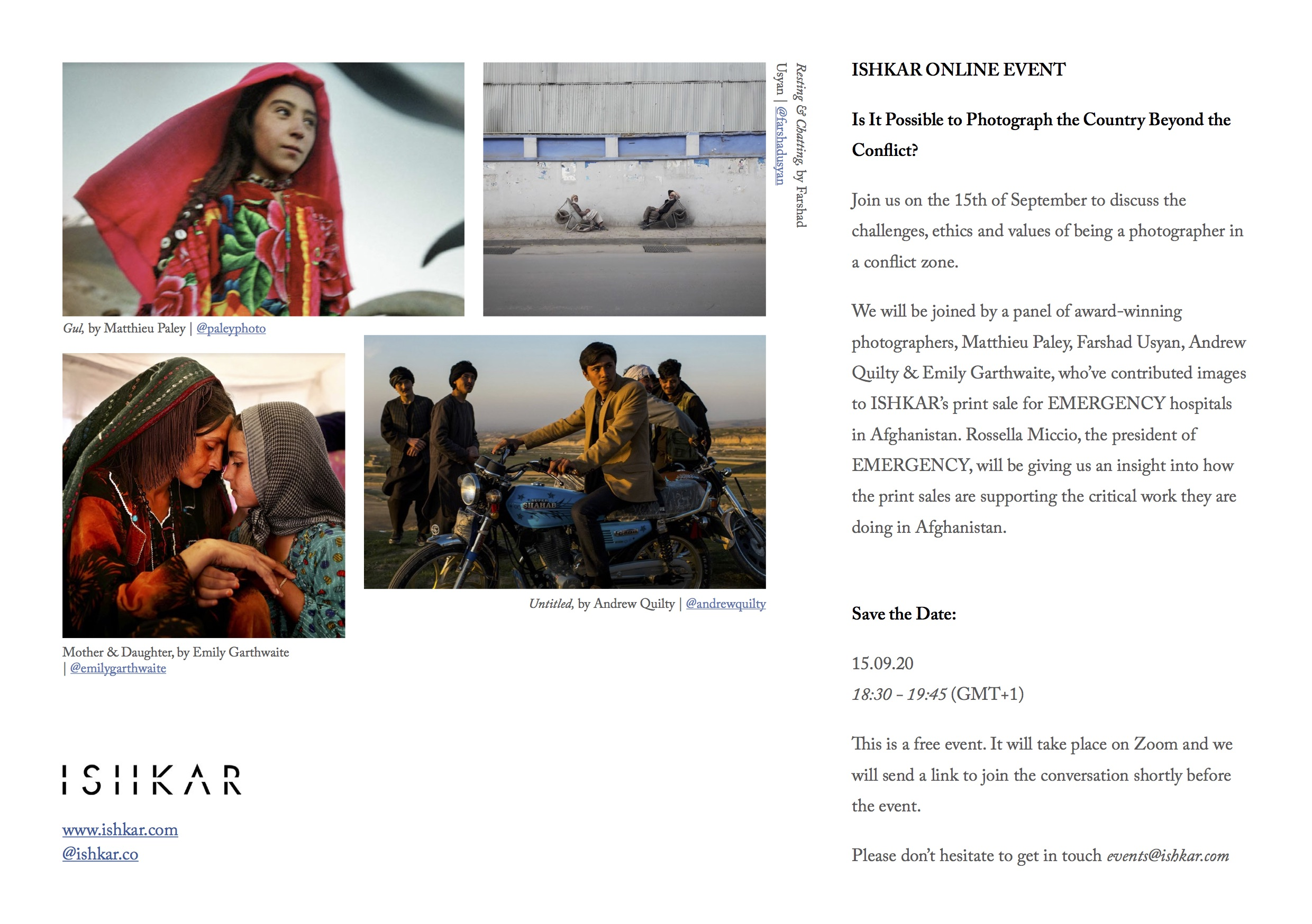 ISHKAR For EMERGENCY: Is It Possible To Photograph The Country Beyond The Conflict?
